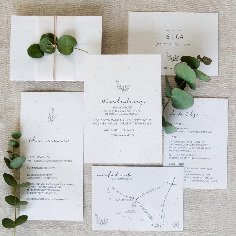 Hochwertige und individuelle Hochzeitspapeterie Sets