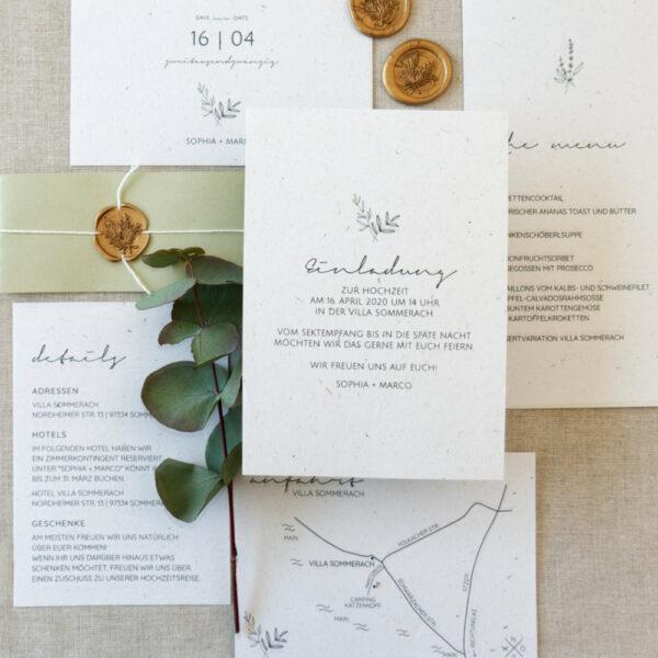 Hochzeit greenery botanical scandi siegel eucalyptus