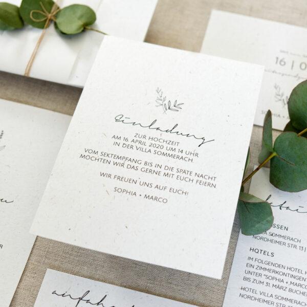 botanical hochzeit, greenery, hochzeitspapeterie, Einladungskarte, scandi