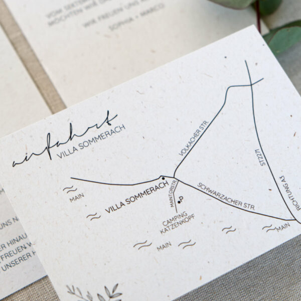 botanical hochzeit, anfahrtsskizze, wegbeschreibung