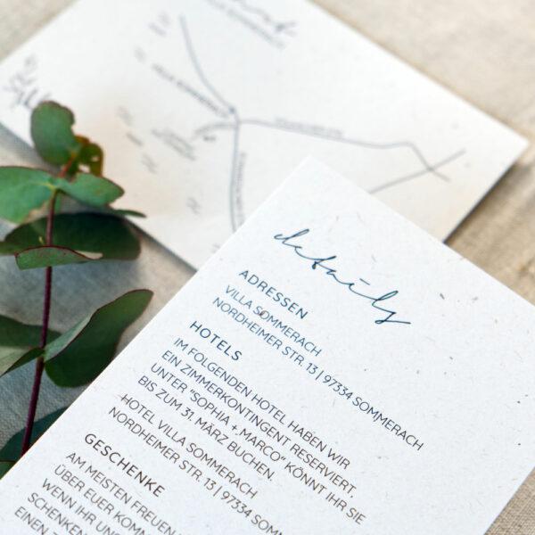Infokarte Hochzeit Details Greenery Scandi Botanical