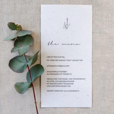 menükarte hochzeit greenery botanical eucalyptus