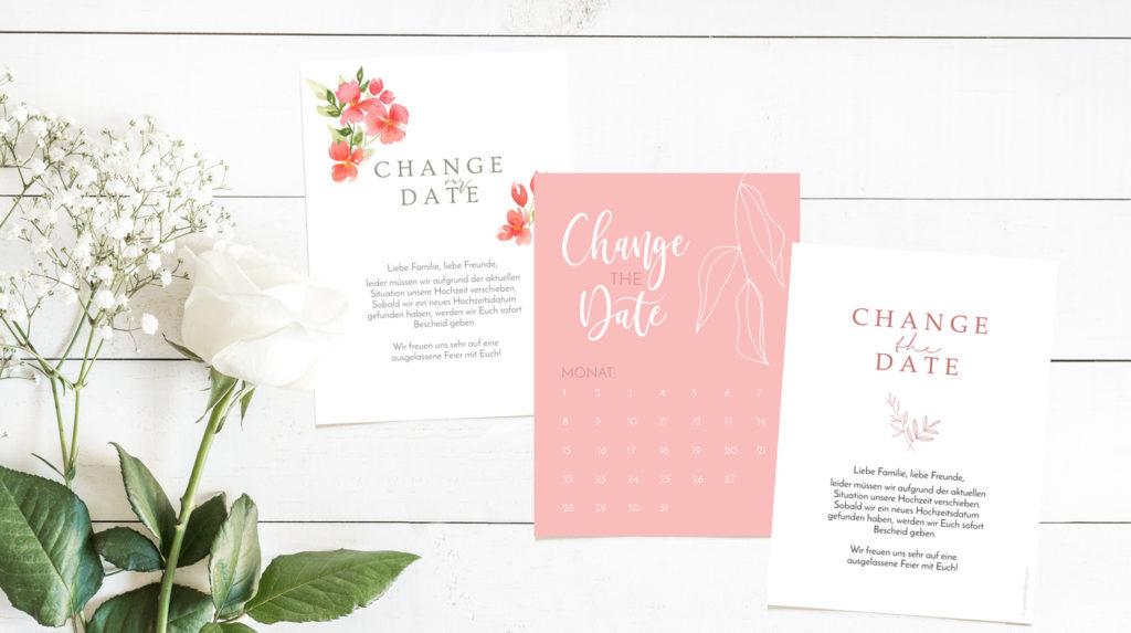 Gratis Change the Date Karten zum Ausdrucken