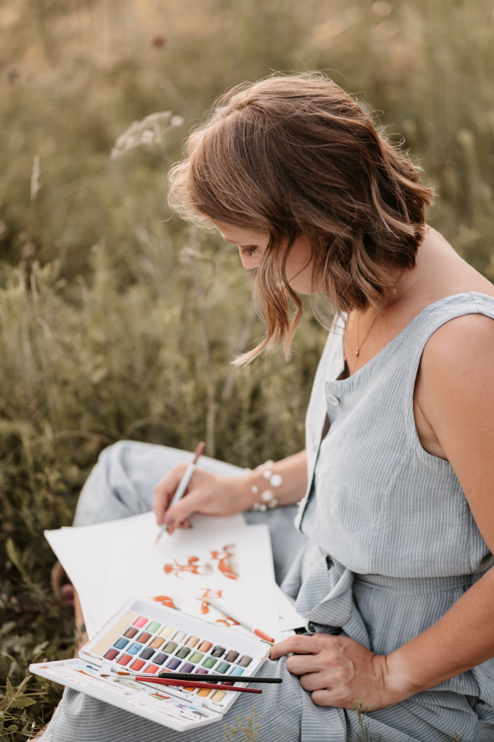 Sabrina Sebald Individuelle Papeterie Illustratorin Aquarelldesign