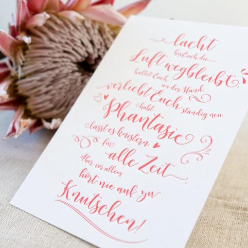 Letterpress Grußkarte Hochzeit