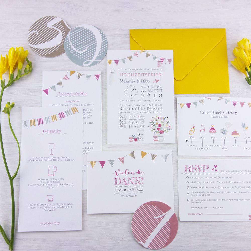 Hochzeitspapeterie Set Felicity: individuelle Hochzeitspapeterie für euren großen Tag