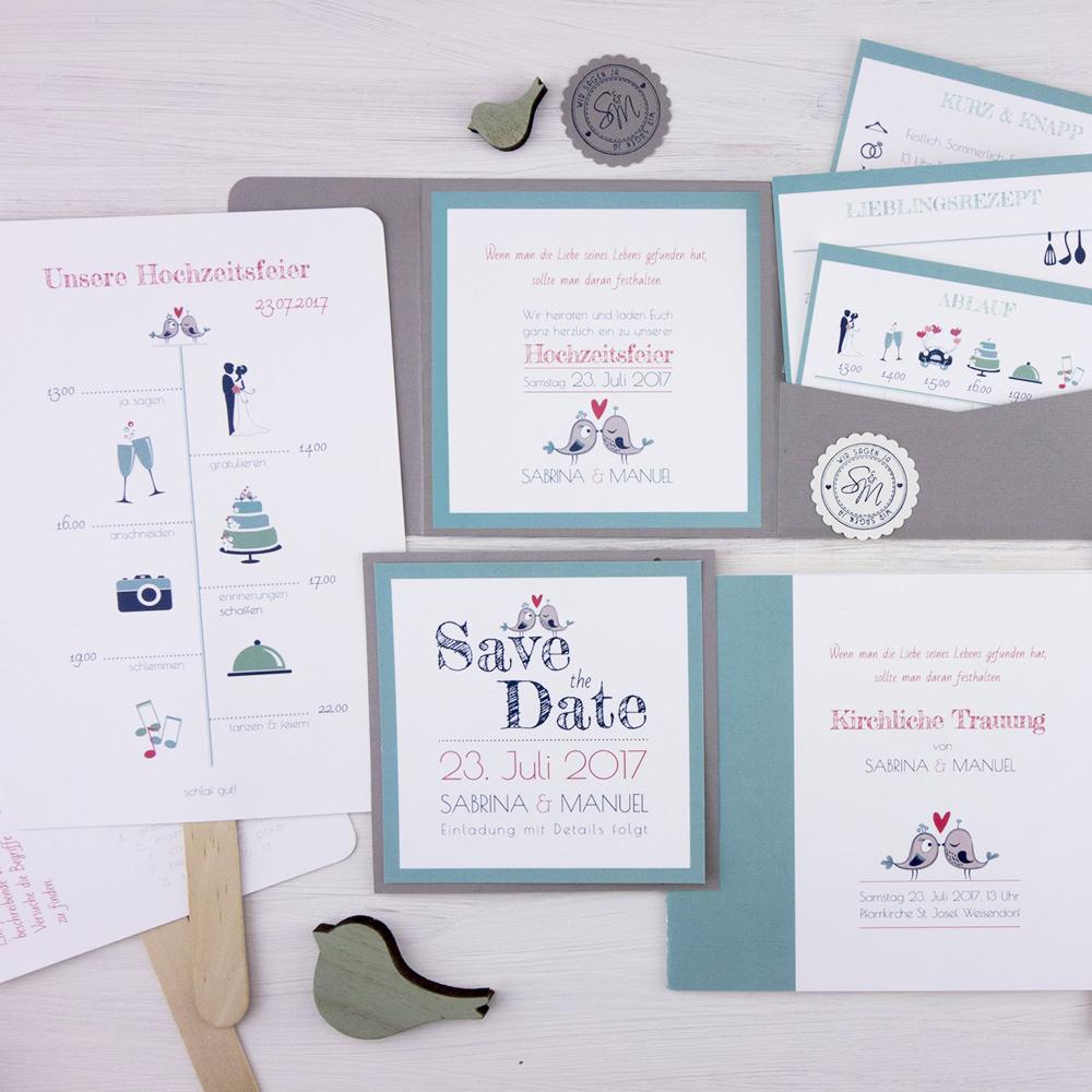 Hochzeitspapeterie Set Melody: individuelle Hochzeitspapeterie für euren großen Tag