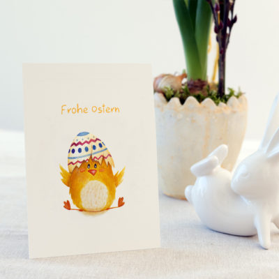 Osterkarte, Grußkarte, Ostern, Feiertage, Küken