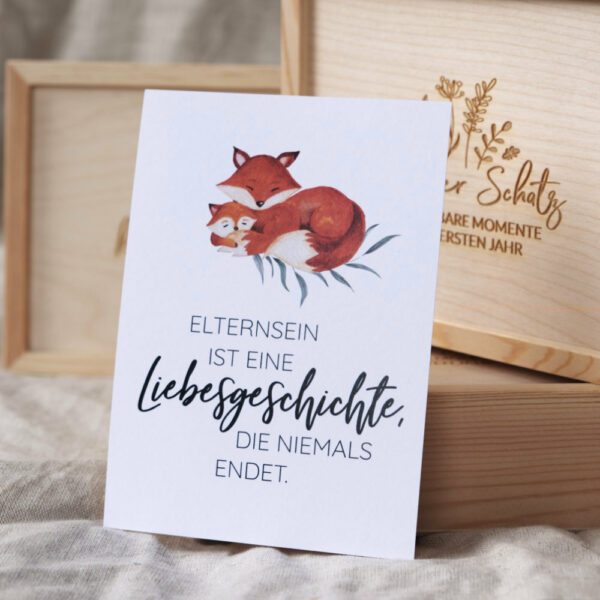 postkarte Mama Eltern Fuchs